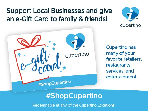 Shop Local with I Love Cupertino e-Gift Card